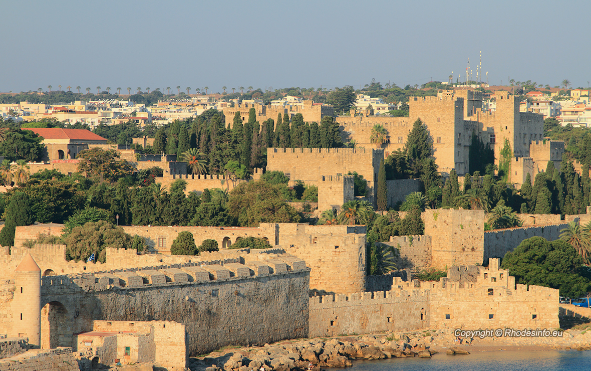 Medieval fortress. Rhodes, Greece.