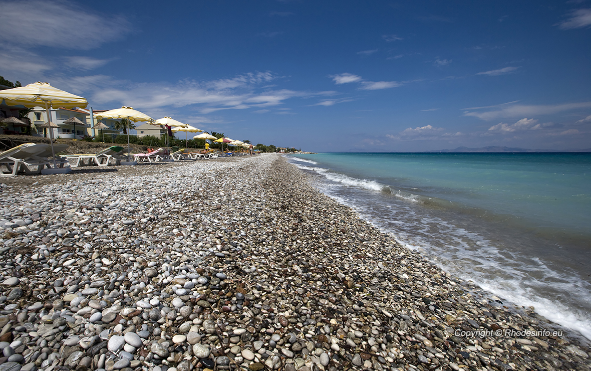 Ialysos beach in the island of Rhodes, Greece