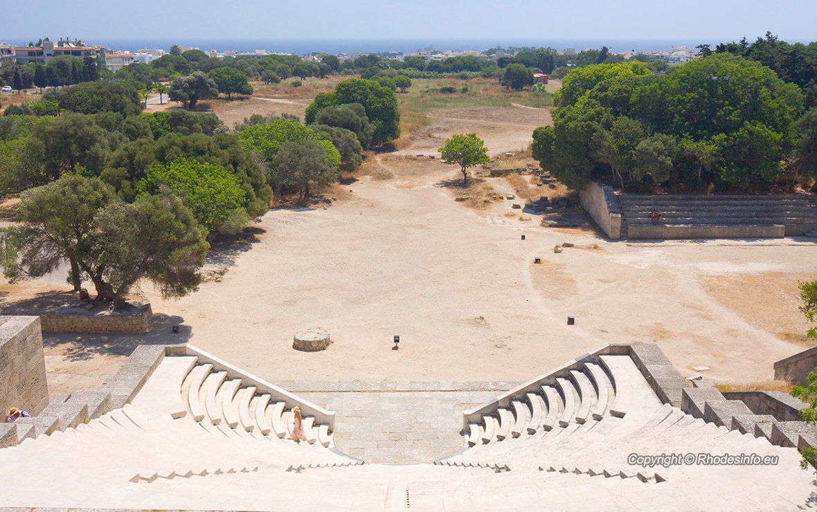 Acropolis of Rhodes with its ancient theater