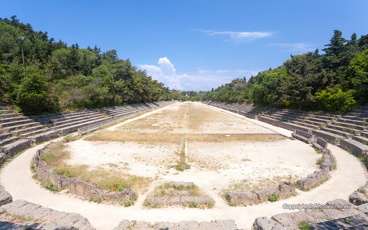 The Stadium at the Acropolis of Rhodes, Rhodes Town Greece