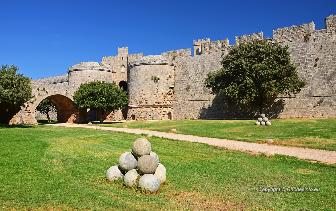 Medieval castle in old town of Rhodes
