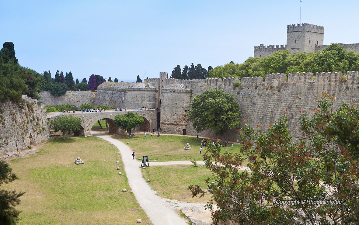 Palace of the Grand Master at Rhodes island in Greece. The D'Amboise gate