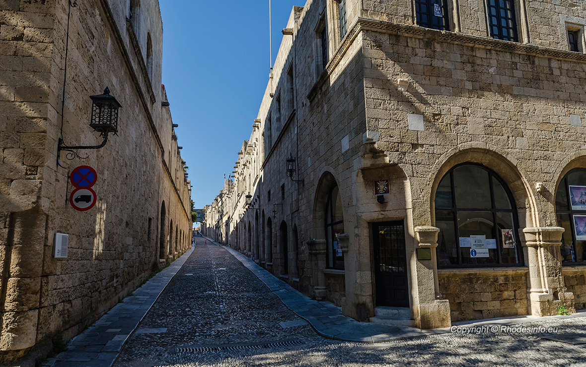 The Knights Street in Rhodes island Greece