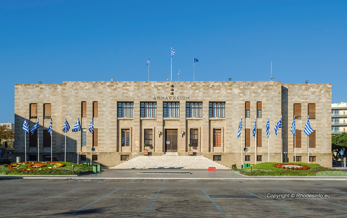 Townhall in Rhodes island Greece