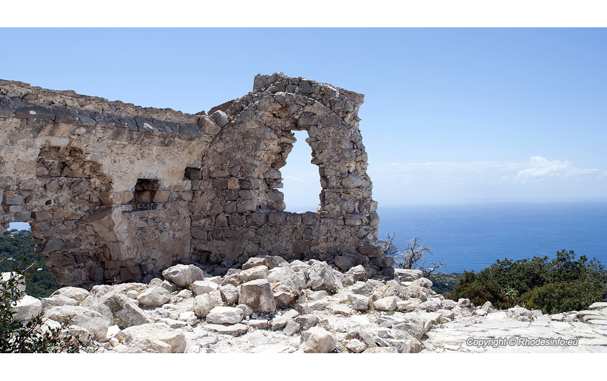 Monolithos fortress on the island of Rhodes in Greece