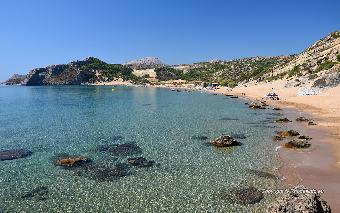 Beautiful Tsambika beach, Rhodes island